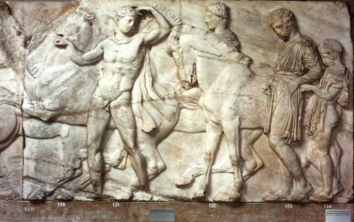 Parthenon, North Frieze: Slab 42 (Riders)